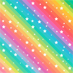 Rainbow color stars pattern vector