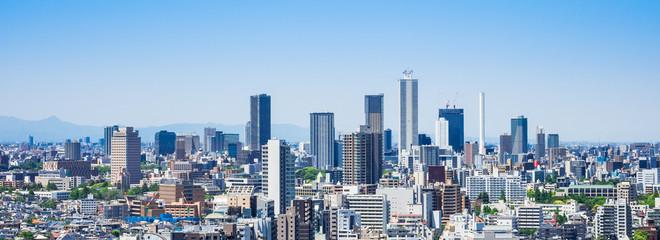 東京 池袋の高層ビル ワイド