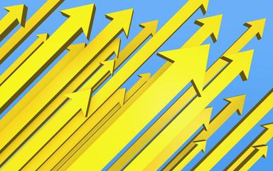 矢印イメージ 黄色