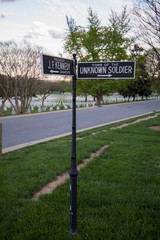 Unknown Soldier sign at Arlington Cemetery
