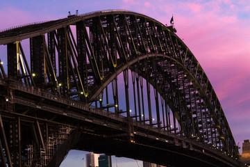 Harbour Bridge Sydney Austrália Sunset