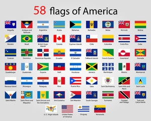 Flat Round Flags of America - Full Vector CollectionVector