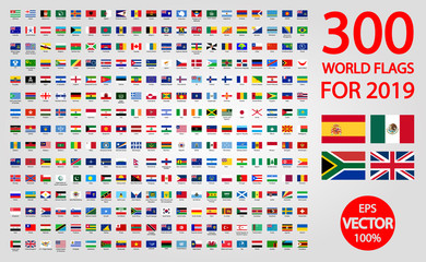 All official national flags of the world . circular design Wall mural