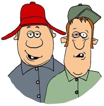 Two hillbilly men