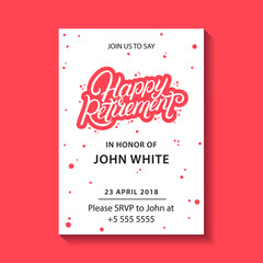Retirement party invitation.