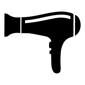 Hairdryer icon, black vector icon isolated