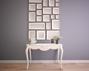 mock up picture frame wall arrangement