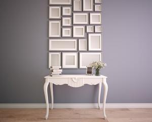 mock up picture frame wall arrangement