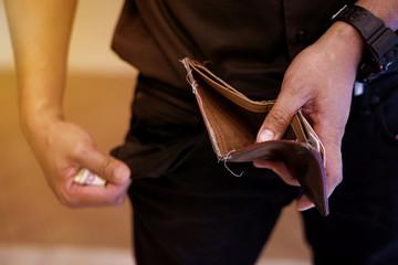 Money bag began to run out.
