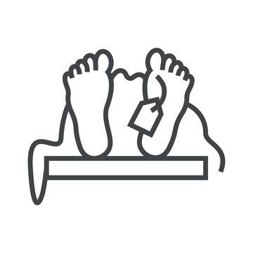 Line icon dead man