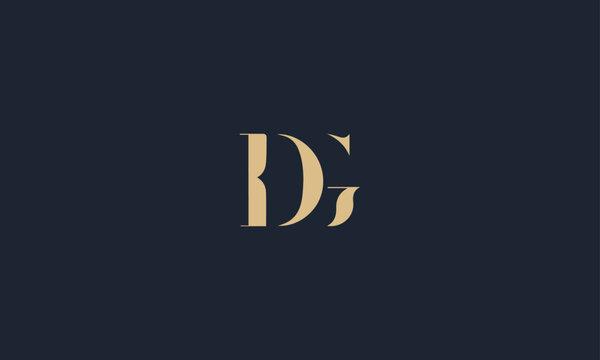 DG logo design template vector illustration