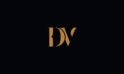 DV logo design template vector illustration