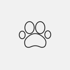 Paw vector icon illustration sign