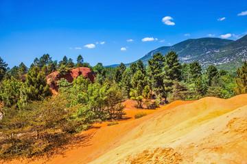 Red-orange hills of natural dye