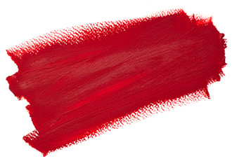 Deep red stroke, oil painting on canvas. Stripe. Artistic background, stain illustration. Design...