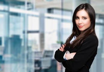 Beautiful businesswoman portrait in a modern office