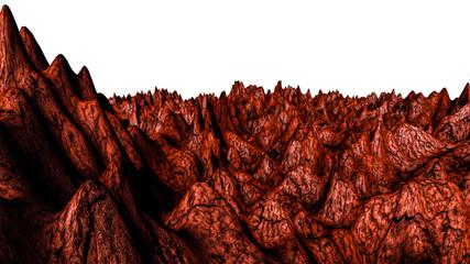 Deurstickers Rood paars cosmic abstract landscape. 3d render illustration