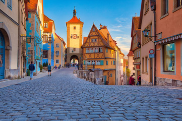 Symbolic view of the medieval town Rothenburg ob der Tauber Wall mural