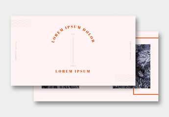 Presentation Layout with Orange and Blue Accents