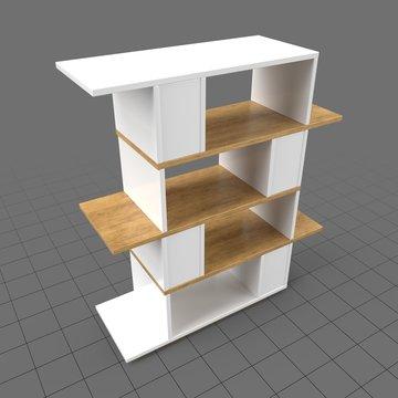 Modern office shelf