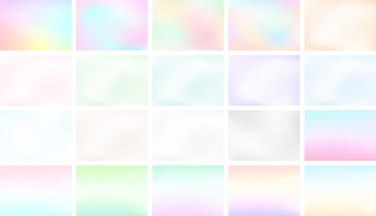 Abstract Blur Light Gradient Background Set A4 Landscape