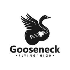 swan guitar logo design