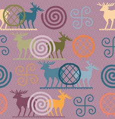 Vector set of ornate motif Anatolian Civilizations series. Hittite Empire. Vector drawing. for Textile, fabric, t-shirt, cover, gift card, wall paper, sticker, tile, background, historical decoration.