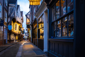 Medieval street of Shambles in York, England Wall mural