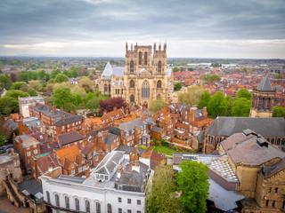 Aerial view of York Minster in cloudy day, England Fototapete