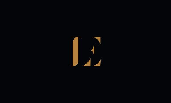 LE logo design template vector illustration