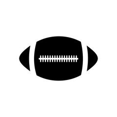 American football, ragby ball. Isolated on white background. Vector EPS10 illustration.