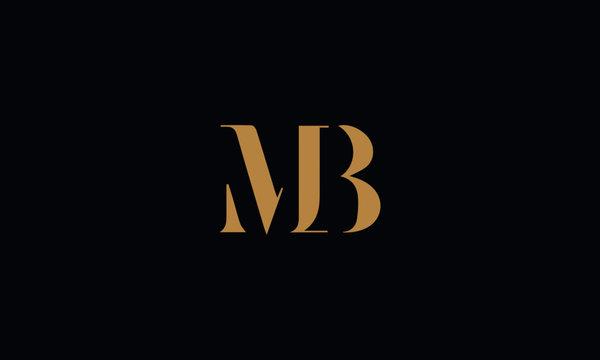 MB logo design icon template vector illustration minimal design