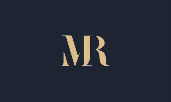 MR logo design icon template vector illustration minimal design