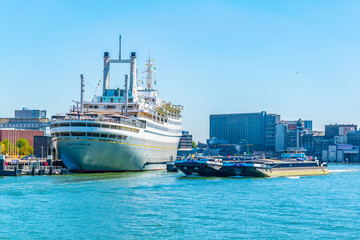 SS Rotterdam, a hotel and museum situated in a former cruise liner, Netherlands