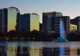 Lake Eola Orlando Skyline
