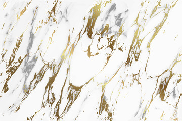 Fotobehang - Marble seamless pattern with golden texture background. High resolution abstract marbling design - Vector