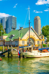 Photo sur Aluminium Rotterdam View of the port of Rotterdam, Netherlands