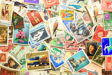 old postage stamps