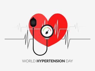 Illustration Of World Hypertension Day Background. - Vector