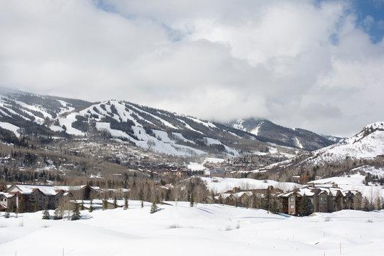 Ski Area in Snowmass near Aspen, Colorado in the USA