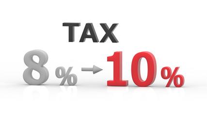 消費税 増税 8%から10% レンダリング