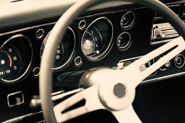 Fotomurales - interior of a classic car