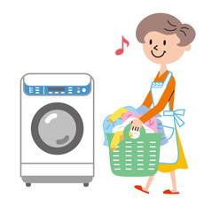 洗濯機 主婦
