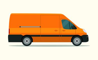 Сargo van isolated. Vector flat style illustration.