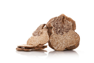 Truffle cross section isolated.