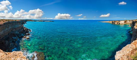 Sicily summer sea beach, Italy Fototapete