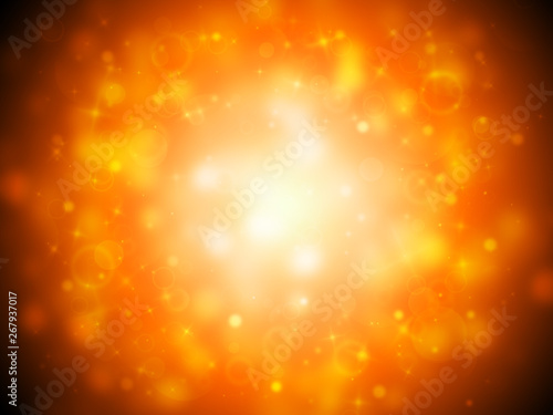Dark Gold Sparkle Rays Lights With Bokeh Elegant Abstract