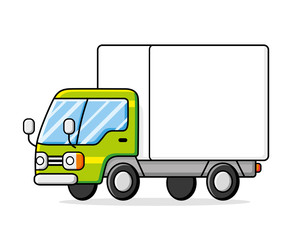 Delivery van truck isolated