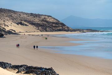 Sandy beach in the Canary island