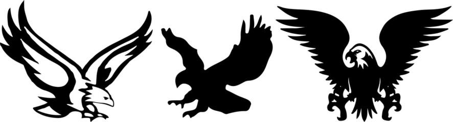 eagle icon on white background